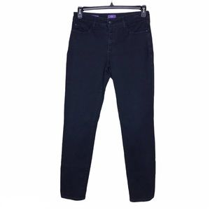 NYDJ Black Alina Legging Lift Tuck Skinny Jeans 6